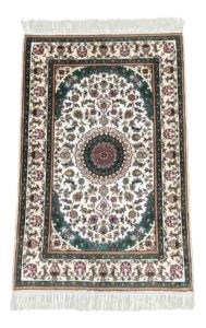 NEW 3x4 Handknotted Handknotted Silk Quoom Area Rug
