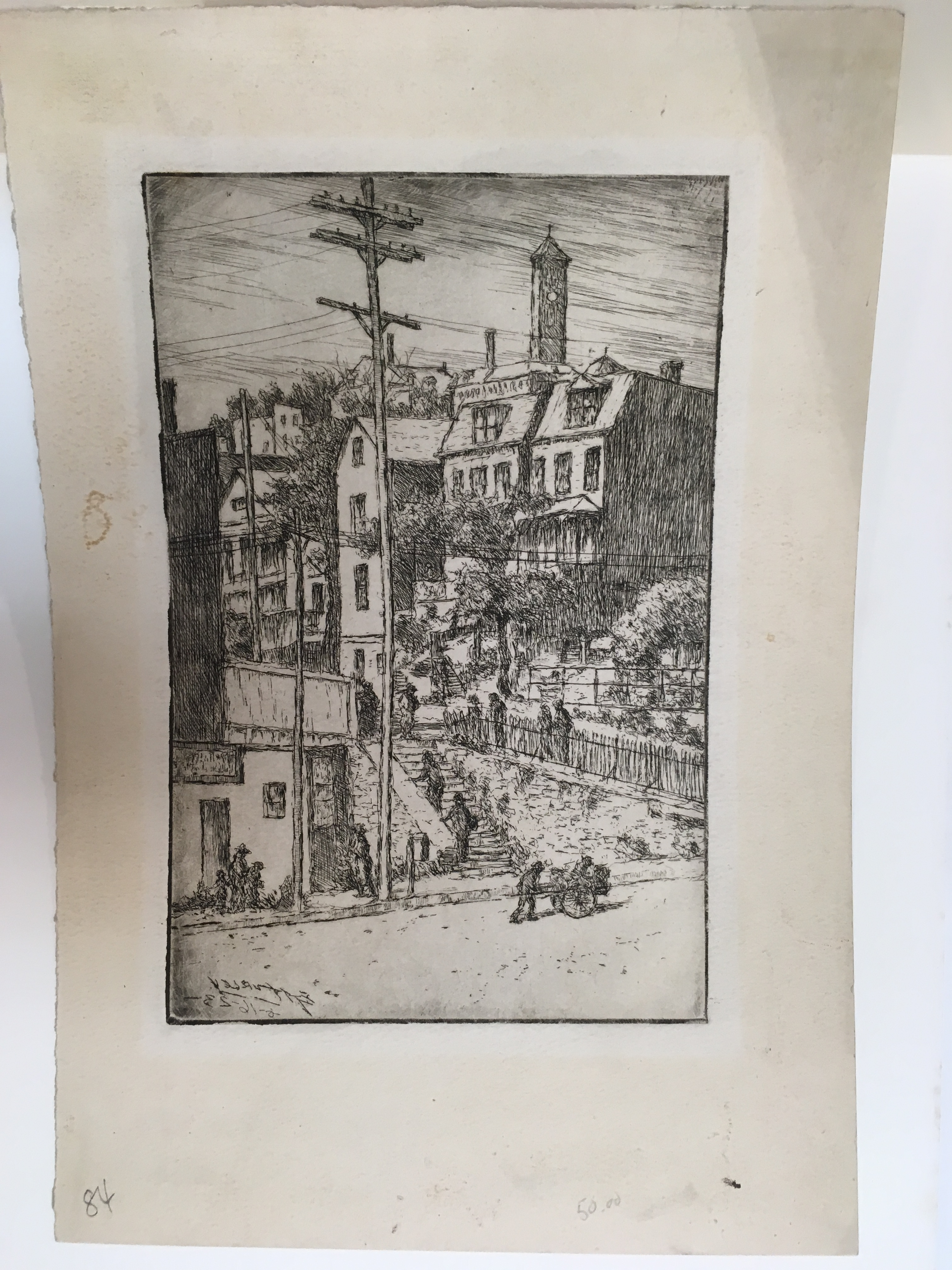 Early 1900 S Engraving By Edward Timothy Hurley