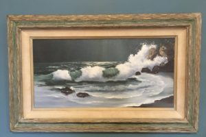 Original Vintage Seaside Oil on Canvas