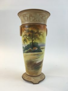 Early 1900's Handpainted Japanese Nippon Vase
