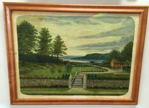 Antique Landscape Original Oil on Board